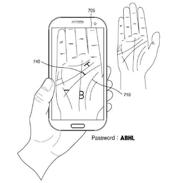 Samsung Palm scanning