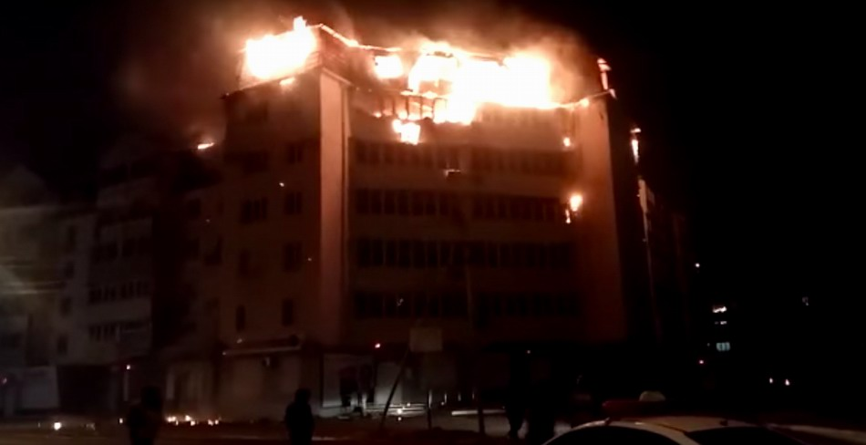 майнер сжег многоэтажный дом