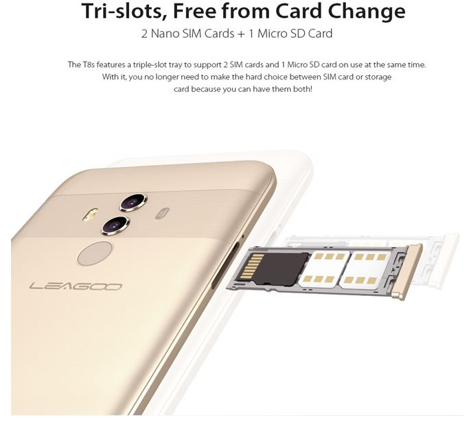 LEAGOO предложила Full HD-смартфон T8s по сверхнизкой цене
