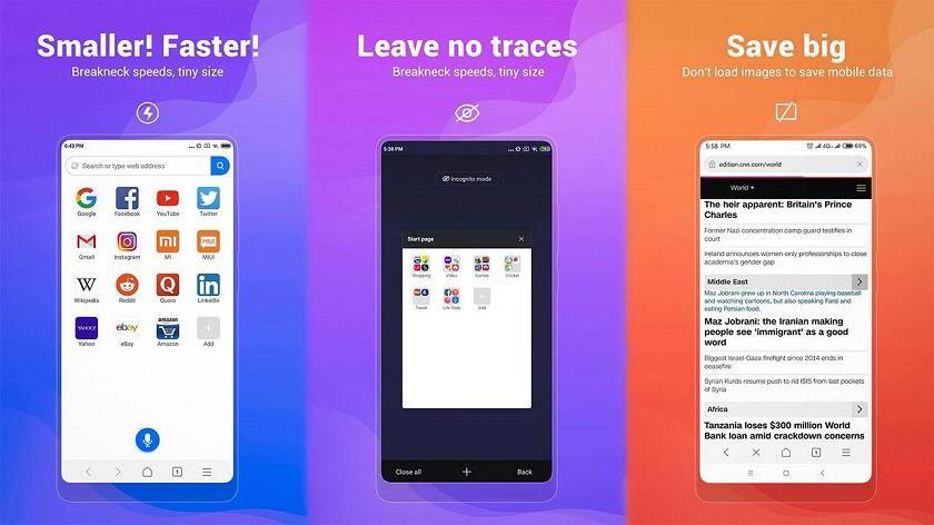 Xiaomi выпустила мобильный веб-браузер Mint