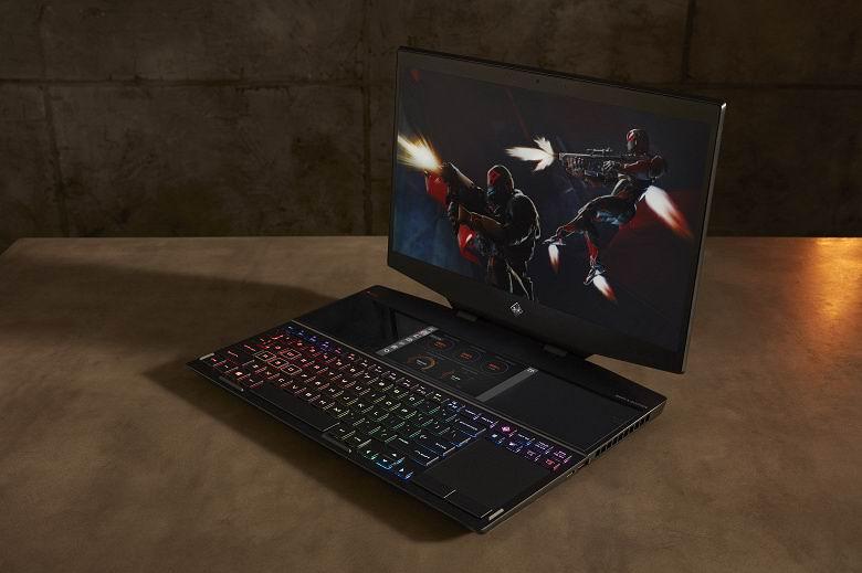 HP выпустила первый в мире игровой ноутбук в двумя экранами