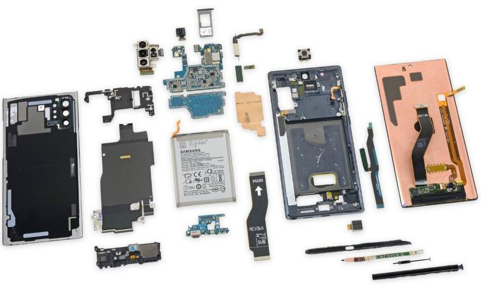 Samsung Note 10+ почти нельзя отремонтировать
